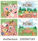 set of poster for picnic.... | Shutterstock .eps vector #1035067165