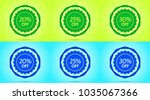collection of green and blue... | Shutterstock .eps vector #1035067366