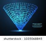 digital funnel  vector... | Shutterstock .eps vector #1035068845