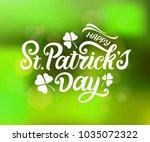 st. patrick's day handwritten...   Shutterstock .eps vector #1035072322