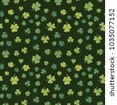 Dark Green Shamrock Seamless...