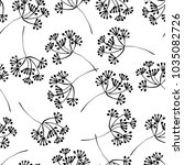 botanical seamless pattern with ... | Shutterstock .eps vector #1035082726
