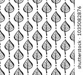 botanical seamless pattern with ... | Shutterstock .eps vector #1035082876