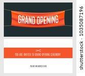grand opening vector...   Shutterstock .eps vector #1035087196