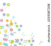 social media marketing ... | Shutterstock .eps vector #1035087208