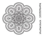 vector indian mandala | Shutterstock .eps vector #1035096496