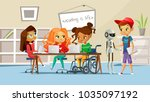 children in school vector... | Shutterstock .eps vector #1035097192