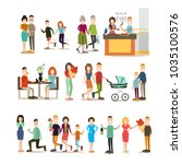 relationship concept icon set.... | Shutterstock . vector #1035100576