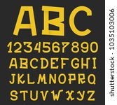 textured grunge alphabet. hand... | Shutterstock .eps vector #1035103006