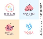 vector collection of yoga ... | Shutterstock .eps vector #1035103312