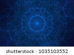 dark blue vector natural... | Shutterstock .eps vector #1035103552