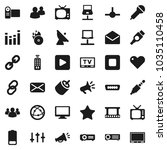 flat vector icon set  ... | Shutterstock .eps vector #1035110458