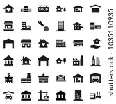 flat vector icon set   house... | Shutterstock .eps vector #1035110935
