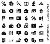 flat vector icon set   bank... | Shutterstock .eps vector #1035110965