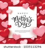 happy mother's day poster... | Shutterstock .eps vector #1035113296