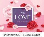 happy mother's day poster... | Shutterstock .eps vector #1035113305