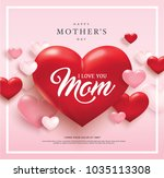 happy mother's day poster... | Shutterstock .eps vector #1035113308