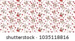 a pattern with small brown dogs ... | Shutterstock .eps vector #1035118816