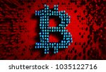 abstract numbers random motion... | Shutterstock . vector #1035122716