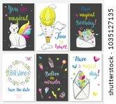 fantastic magic cards... | Shutterstock .eps vector #1035127135