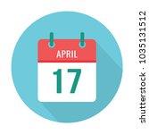 april 17 calendar flat icon | Shutterstock .eps vector #1035131512
