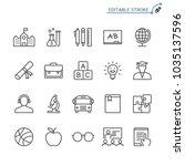 education line icons. editable... | Shutterstock .eps vector #1035137596