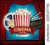 online cinema banner. realistic.... | Shutterstock . vector #1035137746