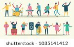vector set in a flat style of... | Shutterstock .eps vector #1035141412