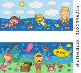 Underwater. Kids Waterpark. Sea ...