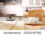 table background in kitchen and ... | Shutterstock . vector #1035149782