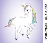 unicorn isolated on background. ... | Shutterstock .eps vector #1035150955