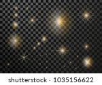 set lighting flare  star.... | Shutterstock .eps vector #1035156622