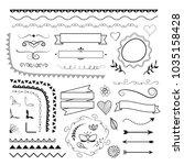 set of vector decorative...   Shutterstock .eps vector #1035158428
