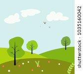 vector background. outdoors.... | Shutterstock .eps vector #1035160042
