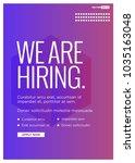 we're hiring typography with hi ... | Shutterstock .eps vector #1035163048
