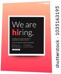 we're hiring typography with hi ... | Shutterstock .eps vector #1035163195
