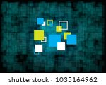 the simplify square of... | Shutterstock .eps vector #1035164962