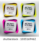 abstract vector square banners... | Shutterstock .eps vector #1035169462
