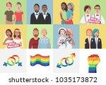 gay couples. gay couple... | Shutterstock .eps vector #1035173872