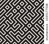 irregular maze line lattice.... | Shutterstock .eps vector #1035177538
