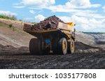 big dump truck or mining truck... | Shutterstock . vector #1035177808