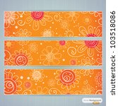 design background set with... | Shutterstock .eps vector #103518086