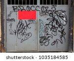 beautiful street art graffiti.... | Shutterstock . vector #1035184585