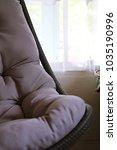 comfortable sofa closeup window ... | Shutterstock . vector #1035190996
