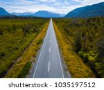 aerial view of the asphalt road.... | Shutterstock . vector #1035197512