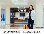 elegant business woman with...   Shutterstock . vector #1035201166