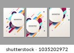 set of abstract geometric... | Shutterstock .eps vector #1035202972
