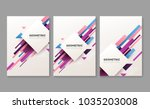 set of abstract geometric... | Shutterstock .eps vector #1035203008