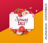 spring sale background with... | Shutterstock .eps vector #1035208615