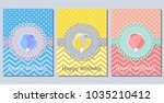 birthday greeting cards with...   Shutterstock .eps vector #1035210412